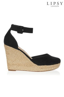 Lipsy Closed Ankle Strap Espadrille Wedges