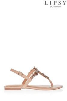 Lipsy Jewel Flat Sandals