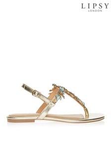 d51a93f4ac6d Buy Women s footwear Footwear Gold Gold Lipsy Lipsy from the Next UK ...