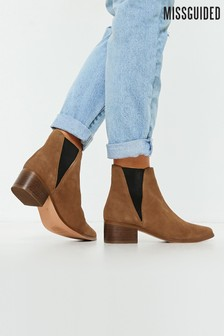 Missguided Suede Chelsea Boots