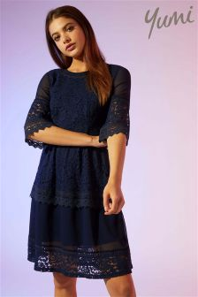 Yumi Lace Georgette Dress