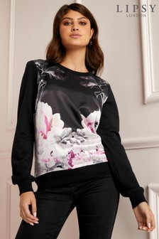 Lipsy Floral Satin Sweater