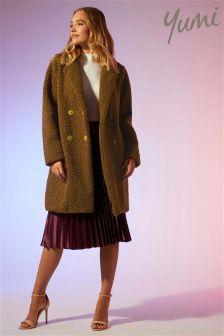 Yumi Double Breasted Teddy Bear Coat