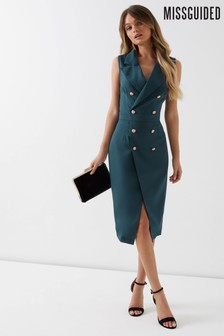 Missguided Tailored Blazer Midi Dress