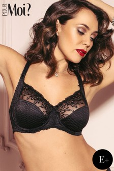 Pour Moi Hepburn Embroidered Side Support Bra E+