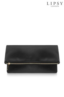 Lipsy Foldover Zip Clutch Bag