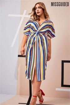 Missguided Curve Stripe Midi Dress