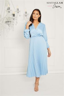 Sistaglam Loves Jessica Wrap Midi Dress