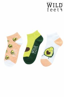 Wild Feet Avocado Pack of 3 Socks