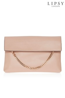 Lipsy Nude Chain Clutch