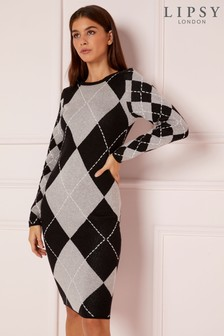 Lipsy Argyle Dress