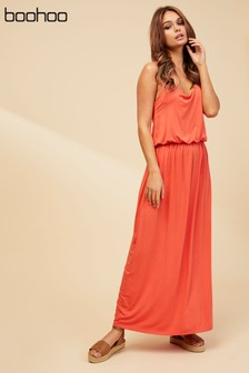 Boohoo Racer Back Maxi Dress