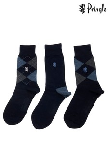 Pringle Bamboo Argyle Socks Three Pack
