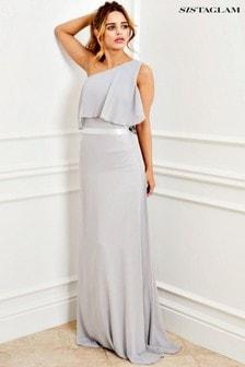Платье макси с оборкой Sistaglam