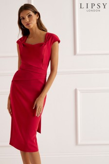 Lipsy Pleated Waist Midi Dress