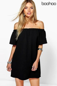 Boohoo Bardot Mini Dress