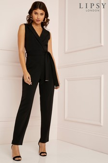 Lipsy Metal End Collared Jumpsuit