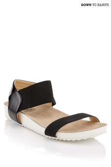 Down To Earth Elastic Wedge Sandals