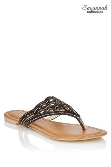 Savannah Diamanté Lasercut Sandals