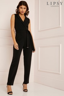 Lipsy Petite Metal End Collard Jumpsuit