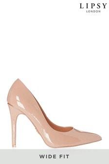 Pink Satin Peep Toe Court Shoe Polka Dot Striped Bow Front 4.5/'/' Heel