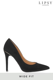 31f72e0f4366 Lipsy Wide Fit Mid Heel Courts
