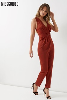 Missguided Belted Tailored Jumpsuit