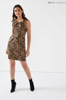 Mela London Leopard Print Tulip Dress