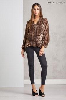 Mela London Leopard Print Top