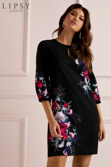 Lipsy Carrie Print Balloon Shift Dress
