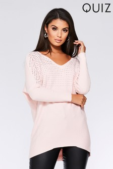 Quiz Diamanté Long Sleeve Jumper