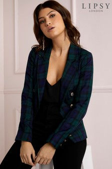 Lipsy Tailored Tartan Blazer