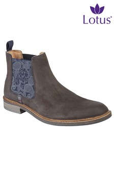 Lotus Leather Boots