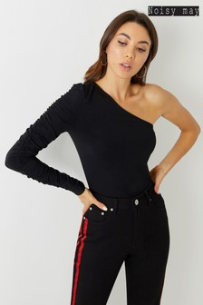 Noisy May One Shoulder Long Sleeve Top