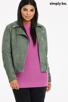 Simply Be Suedette Padded Jacket