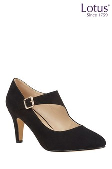 Lotus Buckle Court Shoes