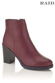 Raid Block Heel Ankle Boots