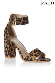 Raid Leopard Print Block Heels