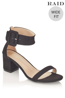 Raid Wide Fit Block Heel Sandals