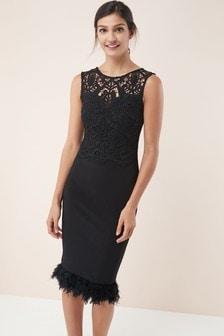 88c7feb8cfcf76 Black Lace Dresses | Long & Short Black Lace Dresses | Next Ireland