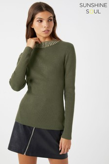 Sunshine Soul Studded Jumper