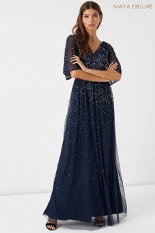 Maya Scattered Sequin Maxi Dress