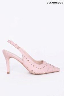 Glamorous Studded Mid Heel Shoe
