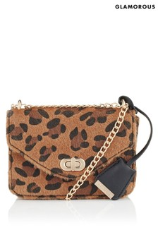 Glamorous Leopard Print Cross Body Bag