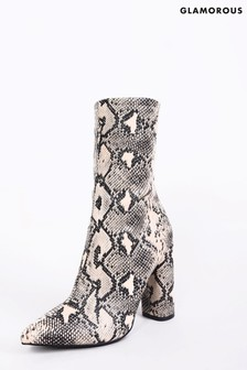 Glamorous Snake Print Boots