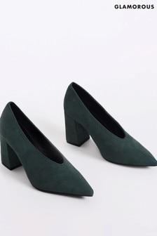Glamorous Deep Plunge Heel Mule Shoes