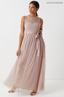 Little Mistress Sweetheart Mesh Maxi Dress