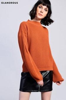 סוודר סרוג עם שרוולים רחבים של Glamorous