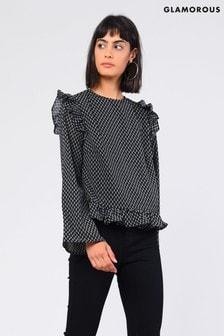 חולצה אלגנטית עם שרוולי מלמלה של Glamorous
