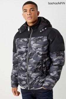 Boohoo Man Camo Padded Jacket